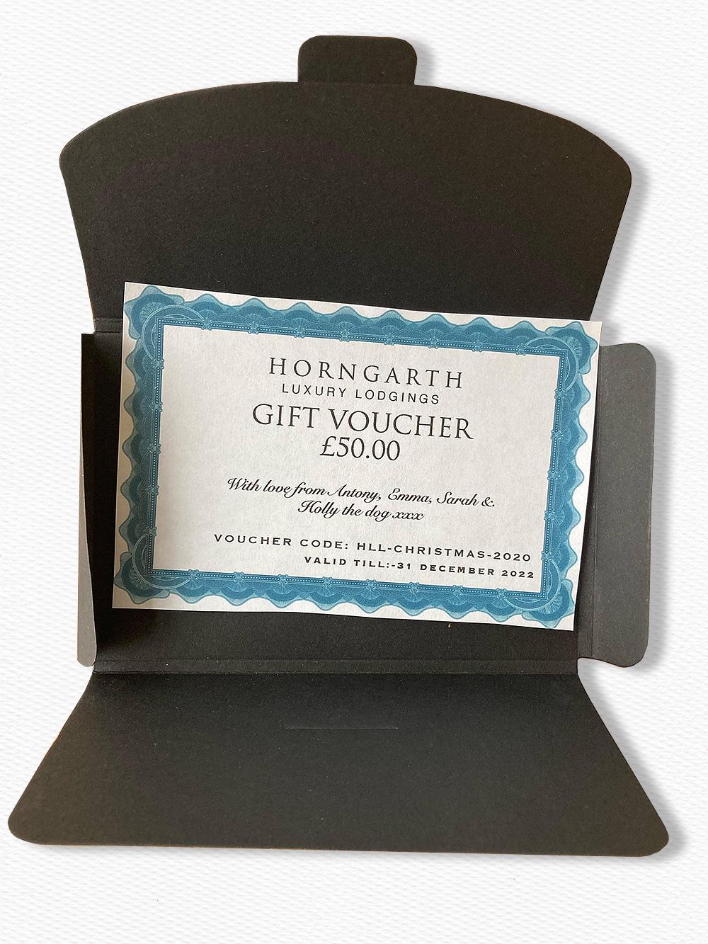 The Horngarth gift voucher